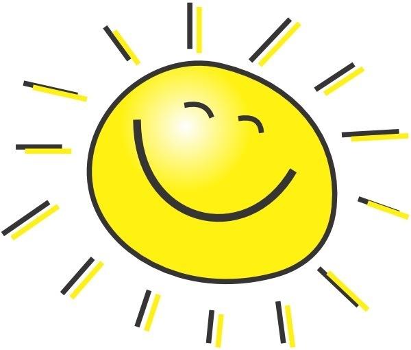 Солнце улыбается смайлик