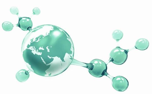 Земля-молекула зеленого цвета