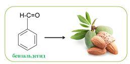 Бензальдегид - бесцветная жидкость с запахом горького миндаля; при хранении на свету и на воздухе желтеет