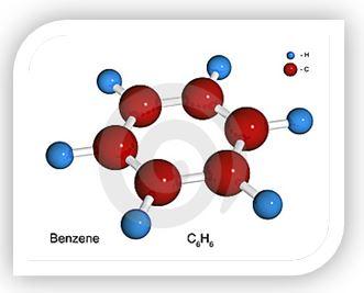 Бензол (С6Н6) — простейший ароматический углеводород. Бесцветная летучая жидкость со специфическим запахом, легче воды, пары тяжелее воздуха; плохо растворяется в воде, хорошо в спирте и других органических растворителях. Технические сорта бензола содержат в качестве примесей ксилол, толуол и другие высококипящие фракции. Бензол — опасный яд.