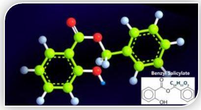 Бензилсалицилат почти не имеет запаха и применяется, в основном, в качестве фиксатора, используюется в производстве душистых веществ