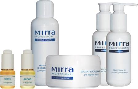 Профессиональная линия MIRRA (MIRRA PROFESSIONAL) - инновационные косметические средства, созданные по запатентованным технологиям на основе уникальных растительных компонентов и продуктов моря